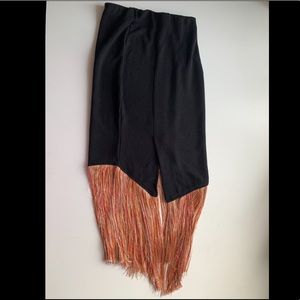 Zara mermaid tassel sweeper skirt